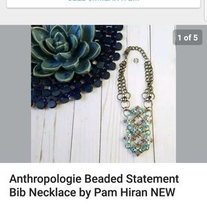 Pamela Hiran Beaded Statement Bib Necklace